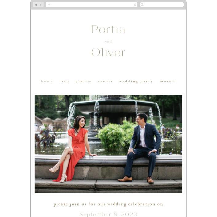 """""""Uncorked"""" - Wedding Websites in Golden by Kristie Kern."""