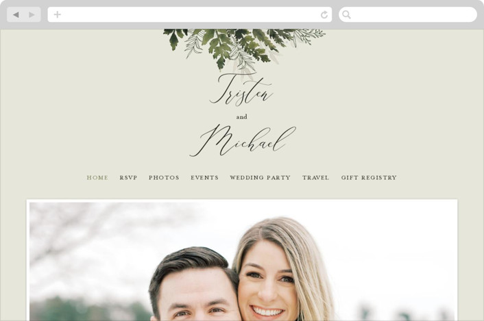 This is a green wedding website by Chris Griffith called Love springs eternal printing on digital paper.