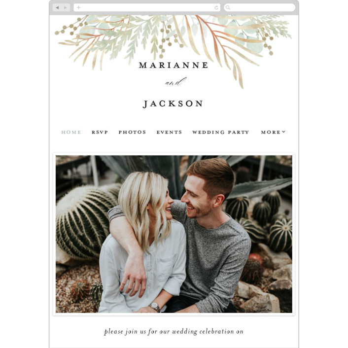 """""""In The Fall"""" - Wedding Websites in Slate by Ashlee Townsend."""