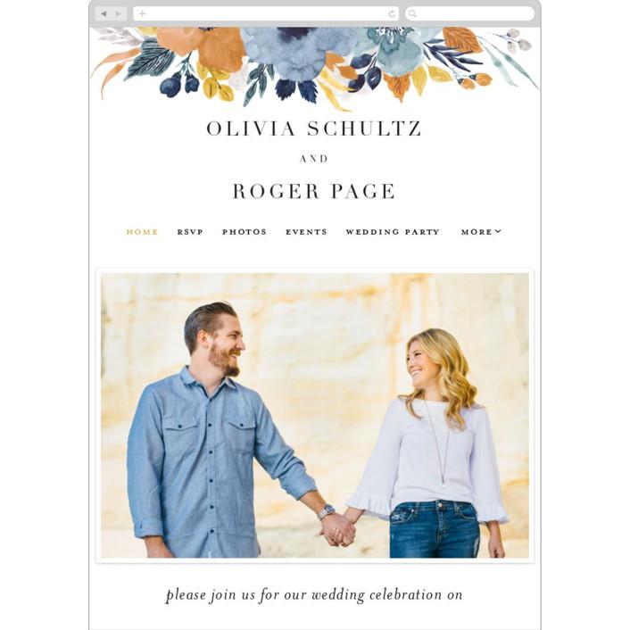 """""""Daydream"""" - Wedding Websites in Honey by Beth Schneider."""
