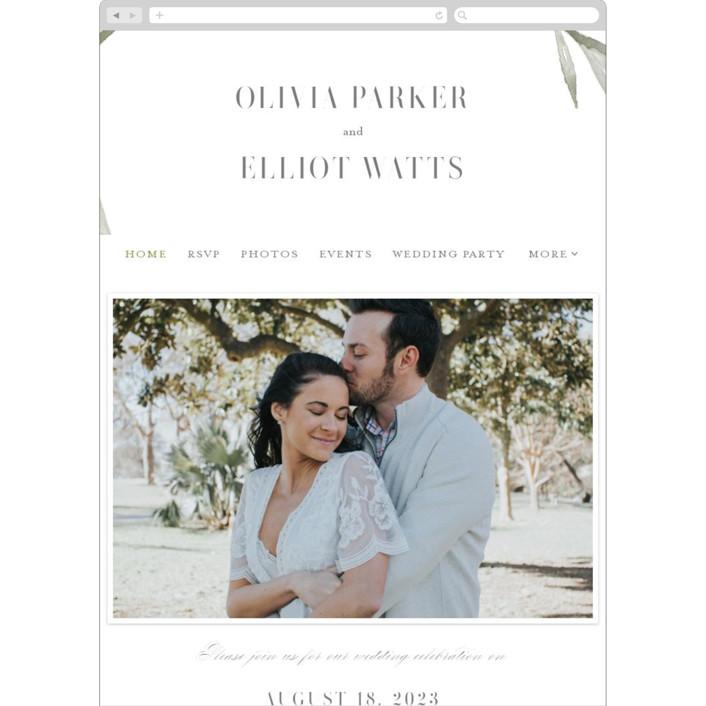 """""""Whispered Leaves"""" - Wedding Websites in Leaf by Kristie Kern."""