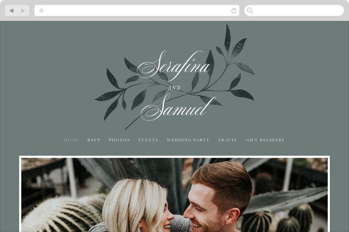 """Serafina"" - Wedding Websites in Sage by Melanie Kosuge."