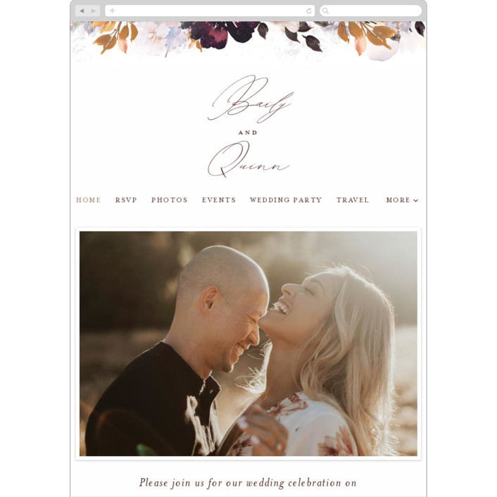 """Lush Bouquet"" - Wedding Websites in Autumn by Phrosne Ras."