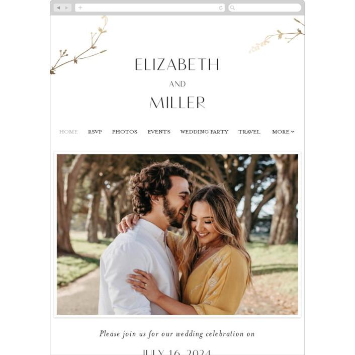 """""""Vine Wrap"""" - Wedding Websites in Cotton by Amy Kross."""