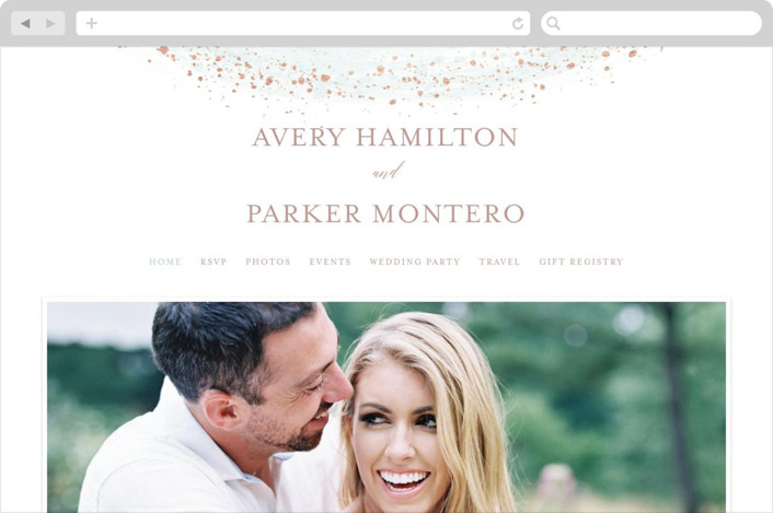 """Sprinkled Brush"" - Wedding Websites in Sea Glass by heythird."