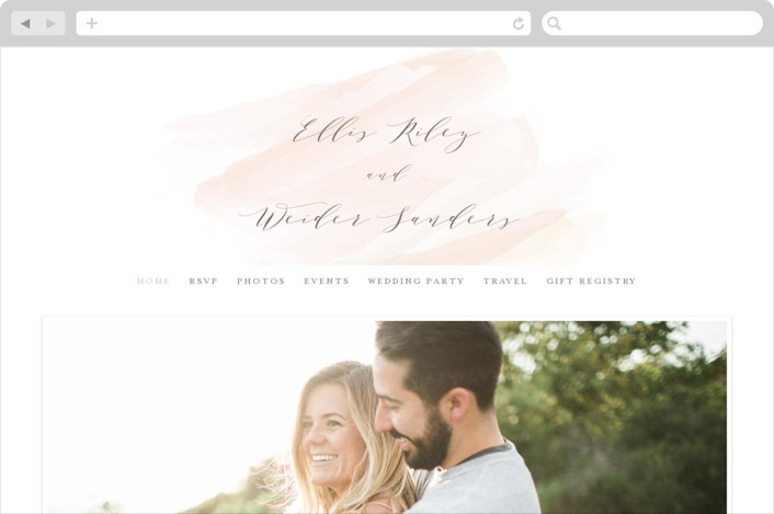 """""""Sophisticated Scipt"""" - Wedding Websites in Blush by Hooray Creative."""