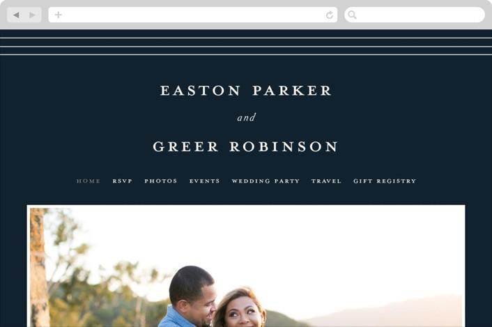 """""""Next Adventure"""" - Wedding Websites in Navy by Stacey Meacham."""