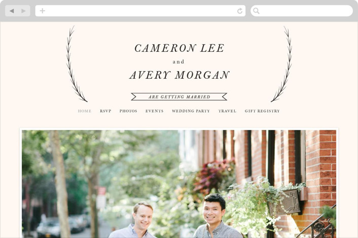"""Astor"" - Wedding Websites in Blush by carly reed walker."