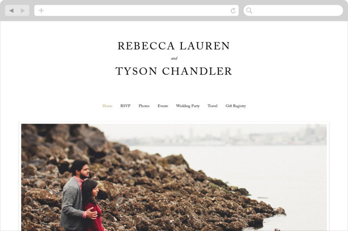 This is a black and white wedding website by Kimberly FitzSimons called Eloquence printing on digital paper.