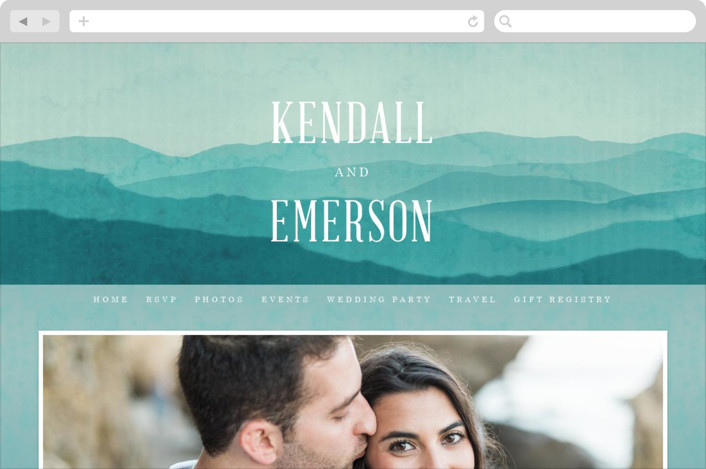 """Misty Mountain Range"" - Wedding Websites in Sky by Kelly Schmidt."