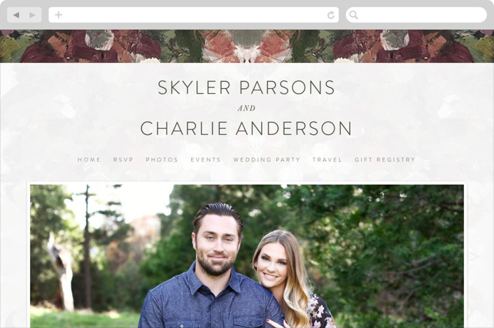 """Gardener's Palette"" - Wedding Websites in Garden by Phrosne Ras."