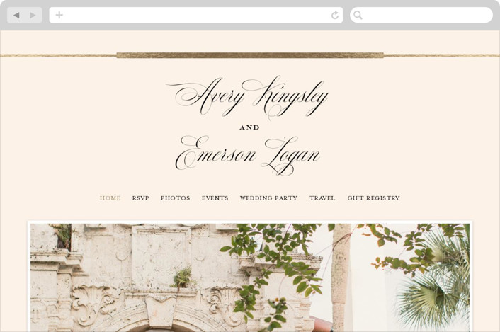 """Cambridge"" - Wedding Websites in Ivory by Little Words Design."
