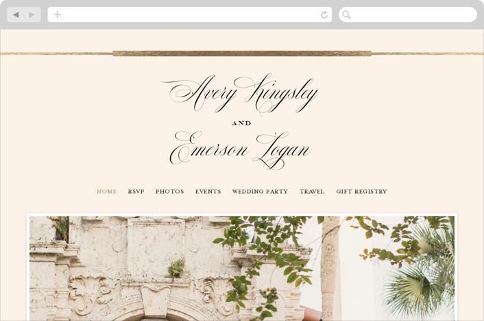 """""""Cambridge"""" - Wedding Websites in Ivory by Meagan Christensen."""