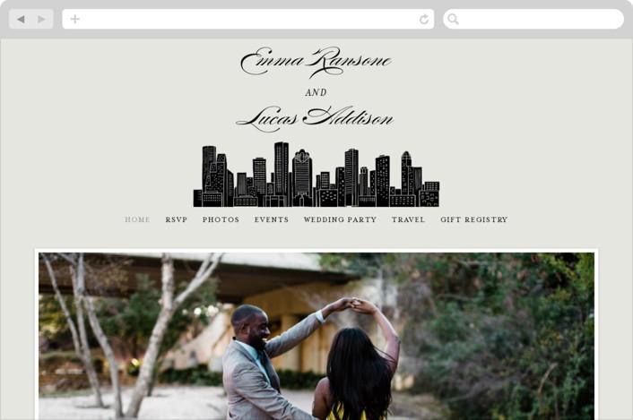"""Big City - Houston"" - Wedding Websites in Light Taupe by Hooray Creative."