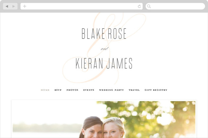 """Today & Always"" - Wedding Websites in Peach by Stacey Meacham."