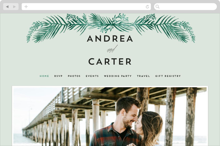 """""""Destination"""" - Wedding Websites in Palm by Pink House Press."""