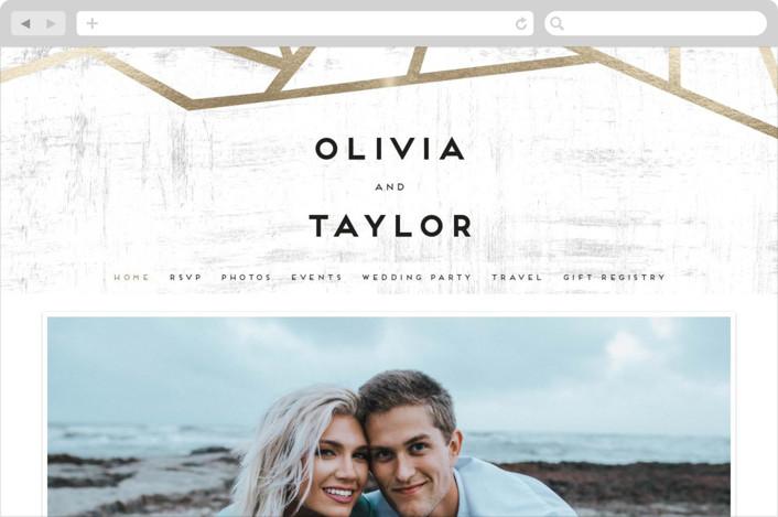"""""""Gilded Concrete"""" - Wedding Websites in Goldenrod by Poi Velasco."""