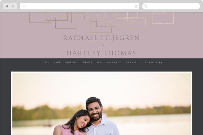"""Mod Block"" - Wedding Websites in Lilac by Meagan Christensen."