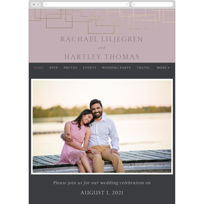 """Mod Block"" - Wedding Websites in Lilac by Meagan Christensen."