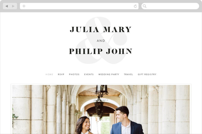 """His and Hers"" - Wedding Websites in Dusk by Erin Deegan."