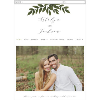 This is a green wedding website by Itsy Belle Studio called Laurels Frame printing on digital paper.