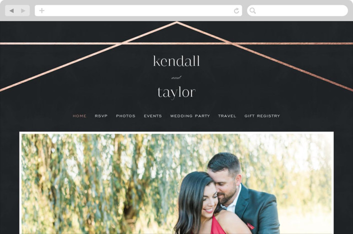 This is a black wedding website by carly reed walker called Vision printing on digital paper.