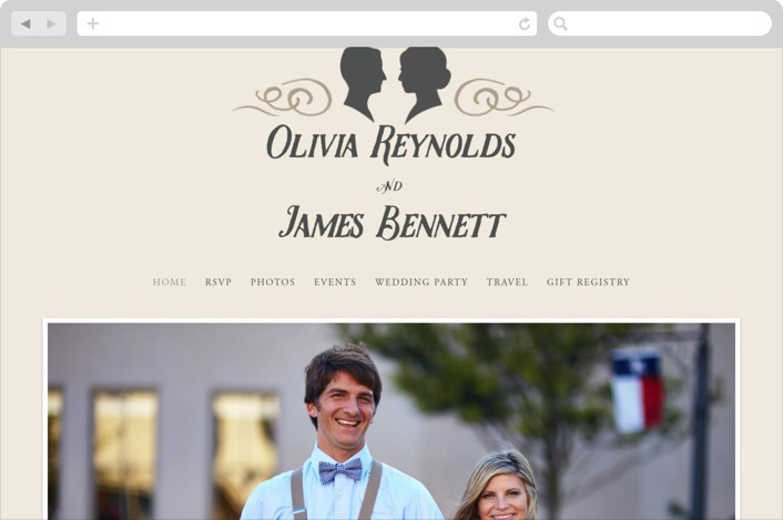 """Vintage Silhouettes"" - Wedding Websites in Champagne by Jessie Steury."