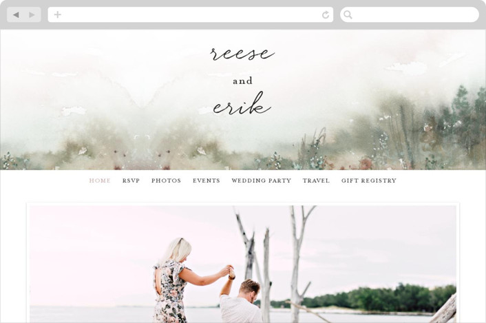This is a colorful wedding website by Lindsay Megahed called Sweet Setting printing on digital paper.