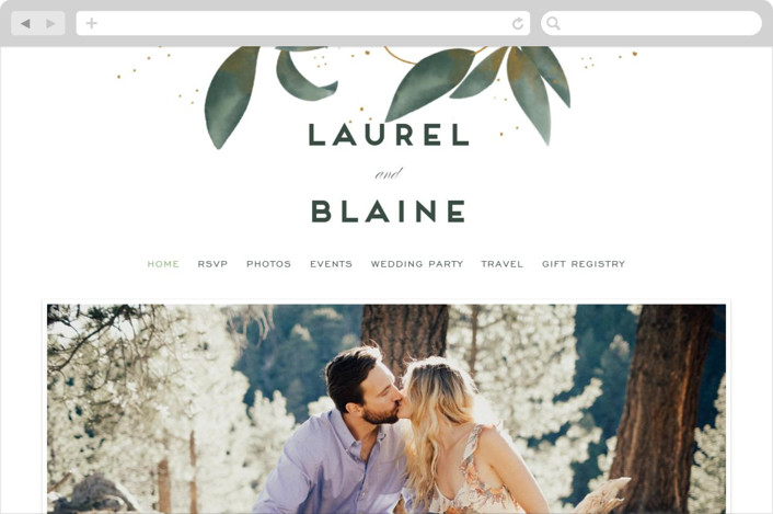 """Love Grows"" - Wedding Websites in Leaf by Leah Bisch."