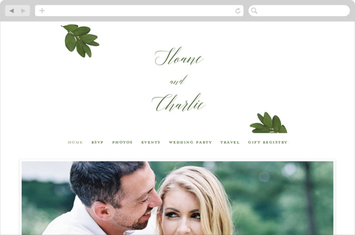 """Dipped Leaf"" - Wedding Websites in Leaf by Kaydi Bishop."