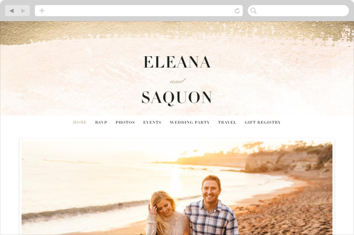 This is a gold wedding website by Jennifer Wick called Never ending printing on digital paper.