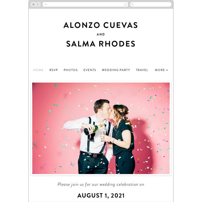 """""""Bad Dancing"""" - Wedding Websites in Dove by Amy Payne."""