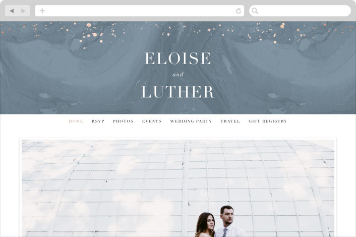 """Moody Marbling"" - Wedding Websites in Slate by Hooray Creative."