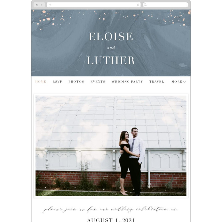"""""""Moody Marbling"""" - Modern Wedding Websites in Slate by Hooray Creative."""