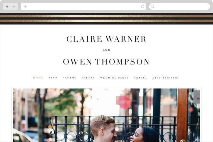 """Deluxe"" - Wedding Websites in Tuxedo by Jennifer Postorino."
