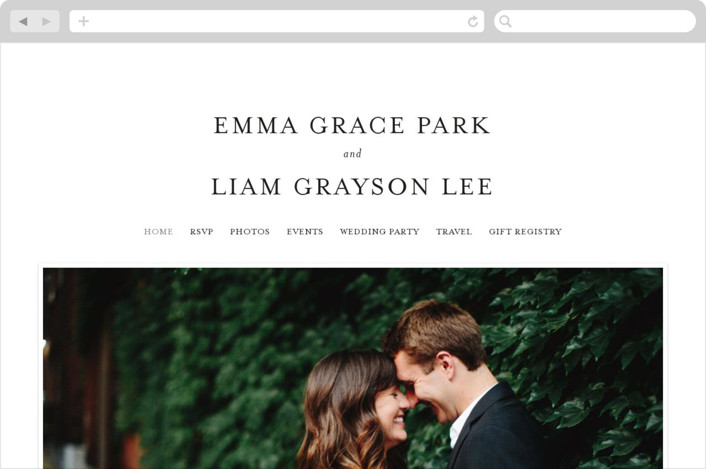 """A Thousand Years"" - Wedding Websites in Classic White by Design Lotus."