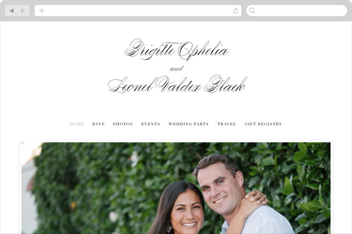 """One and Only"" - Wedding Websites in Classic Bride by Design Lotus."