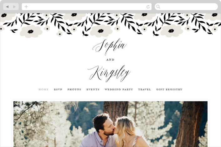 """Nothing Compares To You"" - Wedding Websites in Cream by Design Lotus."