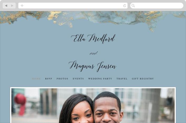 """Something Blue"" - Wedding Websites in Aqua by Benita Crandall."