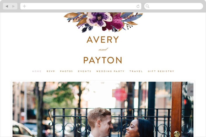 This is a colorful wedding website by Creo Study called Fall romance printing on digital paper.