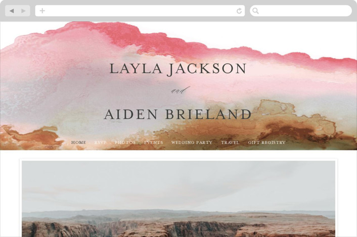 """Sedona"" - Wedding Websites in Desert Sands by Itsy Belle Studio."