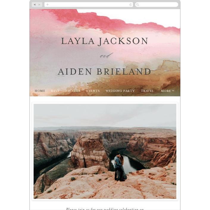 """""""Sedona"""" - Wedding Websites in Desert Sands by Itsy Belle Studio."""