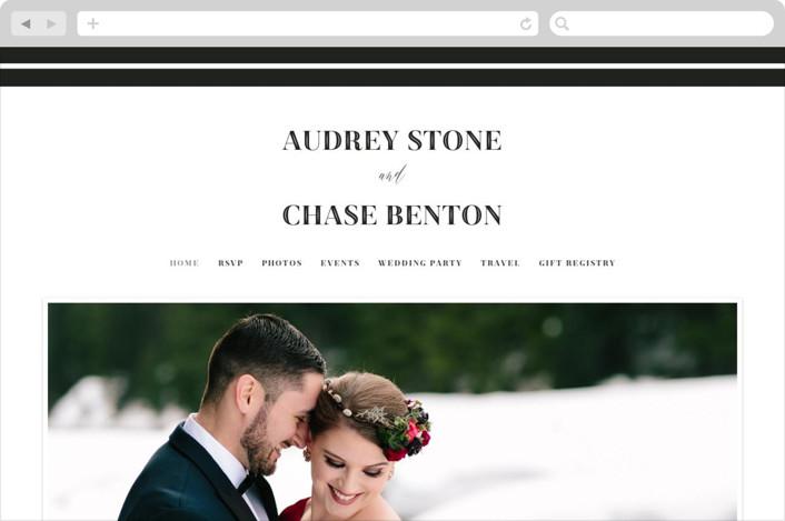 """""""Ribbon Border"""" - Wedding Websites in Tuxedo by Jill Means."""