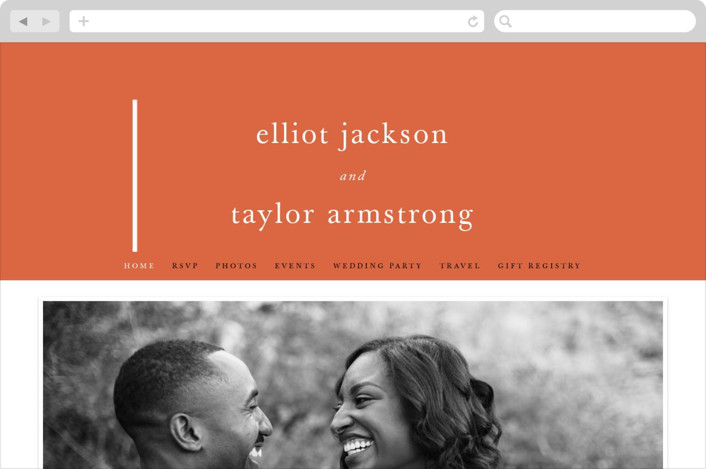 """Evermore"" - Wedding Websites in Harvest by carly reed walker."