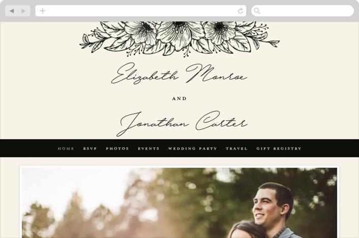 """""""Apeiron"""" - Wedding Websites in Ebony by GeekInk Design."""