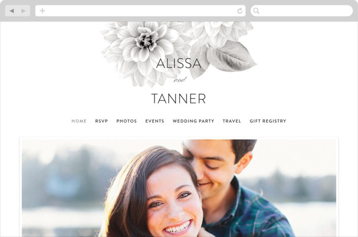 This is a grey wedding website by Jill Means called Together Forever printing on digital paper.