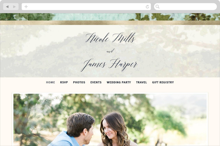 """Nature"" - Wedding Websites in Forest by Elly."