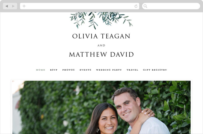 This is a green wedding website by Christie Kelly called Fresh Sage printing on digital paper.