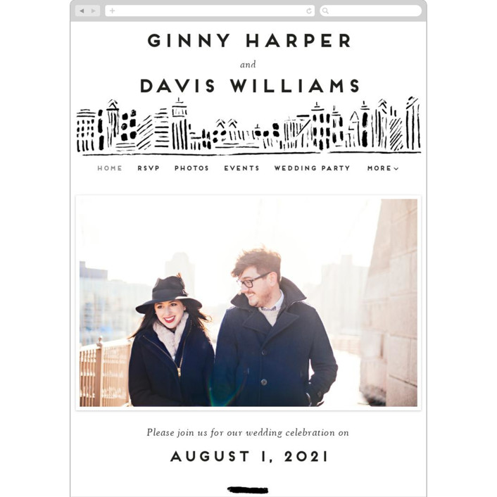 """""""Love In The City"""" - Wedding Websites in Pearl by Shiny Penny Studio."""
