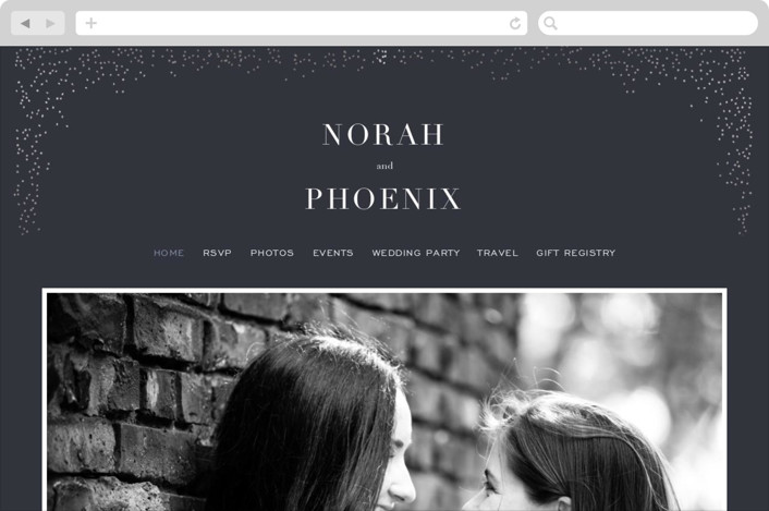 """Amazed"" - Wedding Websites in Obsidian by Design Lotus."